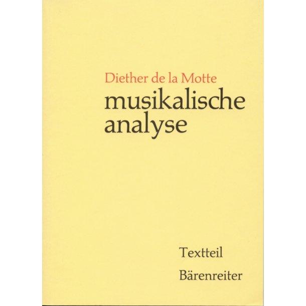 Musikalische Analyse - Motte, Diether de la