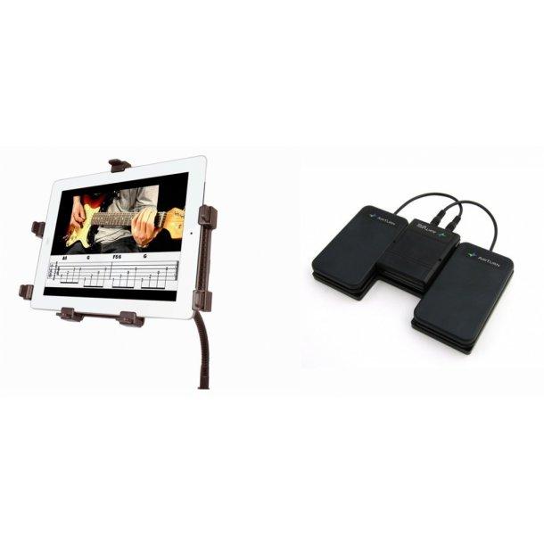Spil med iPad/tablet Pakke - Fodpedal og Nodestativ til iPad