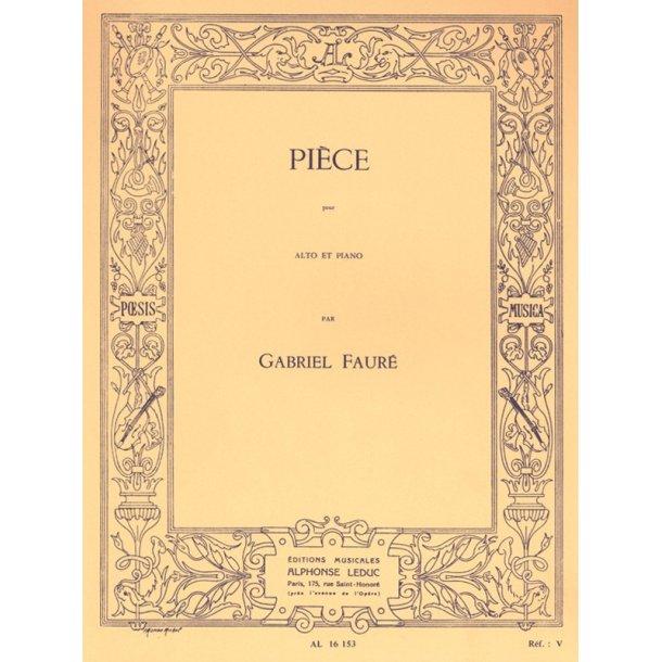 Gabriel Fauré: Pièce (Viola & Piano)