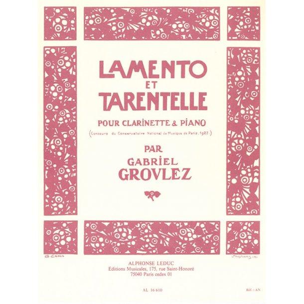 Gabriel Grovlez: Lamento et Tarantelle (Clarinet & Piano)