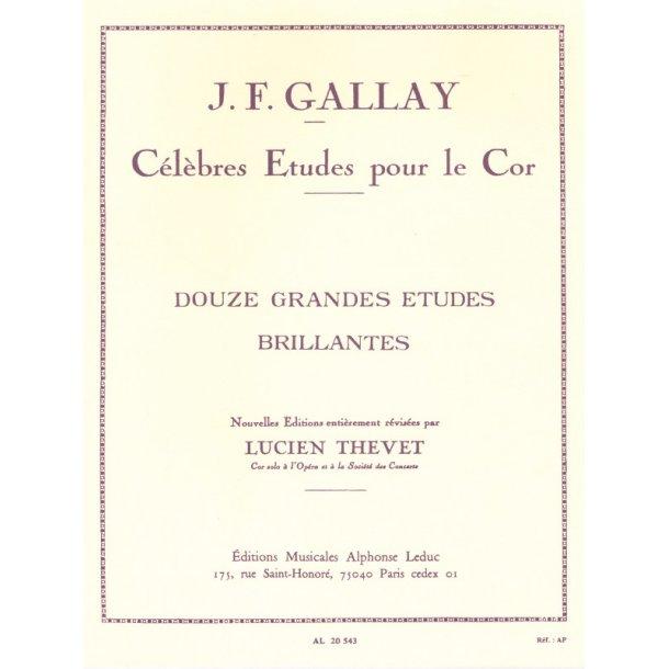 Gallay Thevet 12 Grandes Etudes Brillantes Op 43 Horn Book