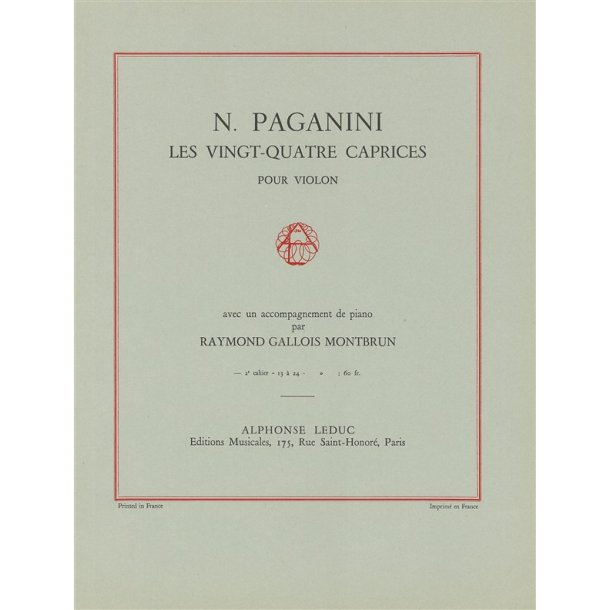 Niccolò Paganini: 24 Caprices Op.1, Vol.2 (Violin & Piano)