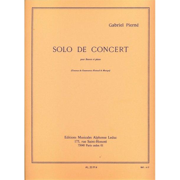 Gabriel Pierné: Solo De Concert Op.35