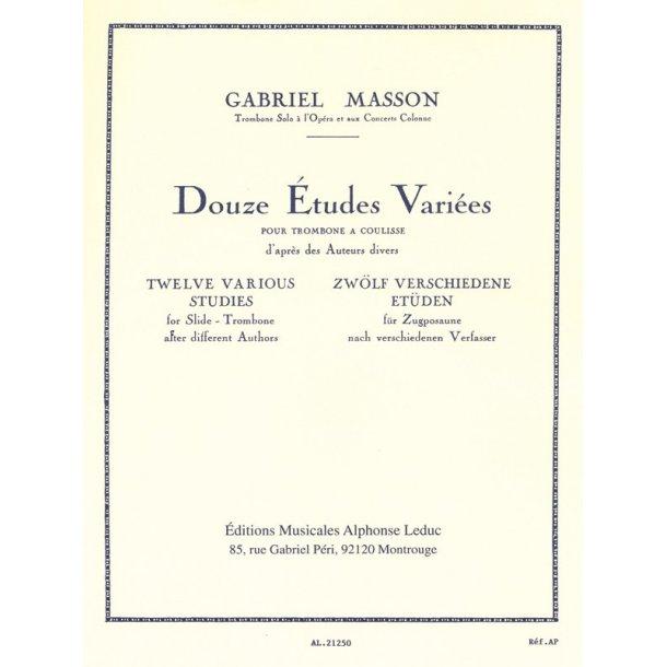 Gabriel Masson: 12 Etudes variées (Trombone solo)