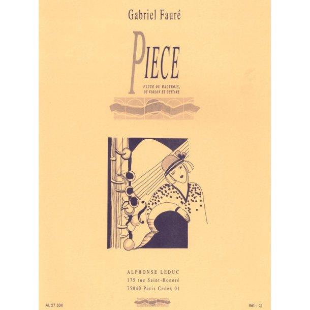 Gabriel Fauré: Pièce (Flute & Guitar)