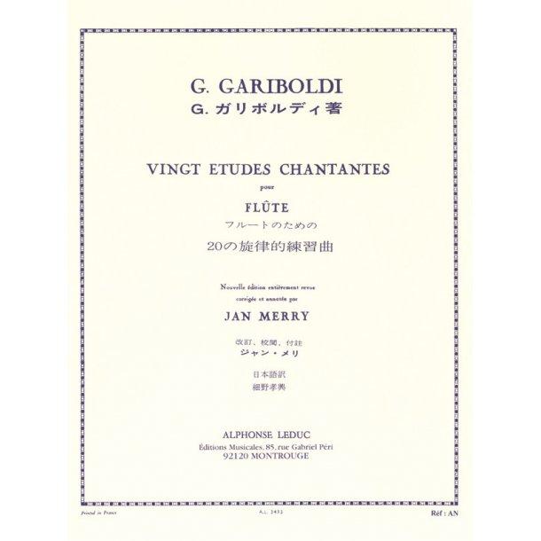 Giuseppe Gariboldi: 20 Etudes chantantes Op.88 (Flute solo)