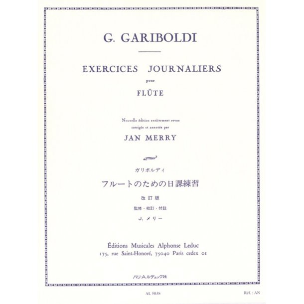 Giuseppe Gariboldi: Exercices journaliers Op.89 (Flute solo)