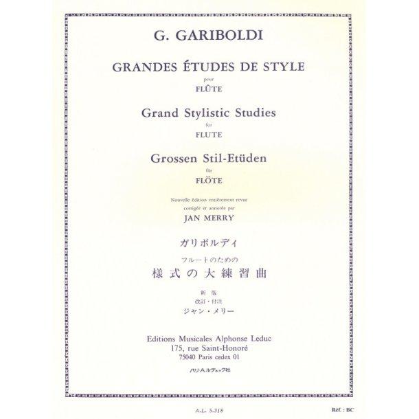 Giuseppe Gariboldi: Grandes Etudes de Style Op.134 (Flute solo)