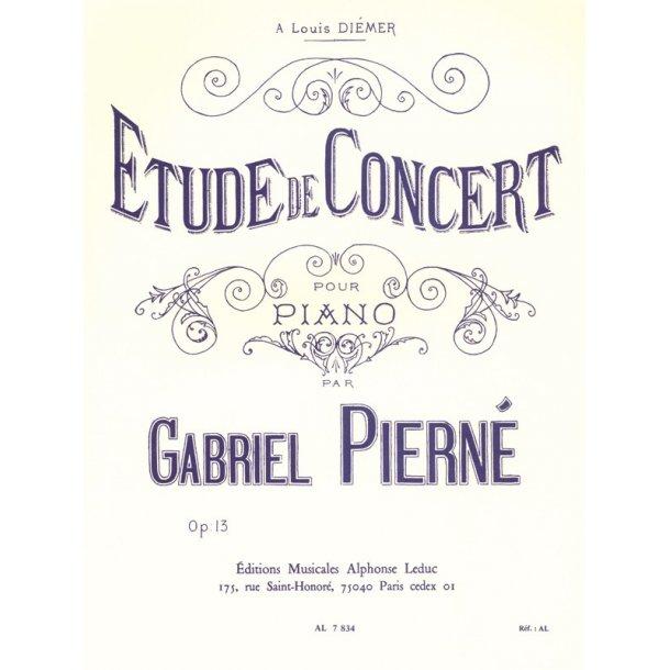 Gabriel Pierné: Etude de Concert Op.13 (Piano solo)