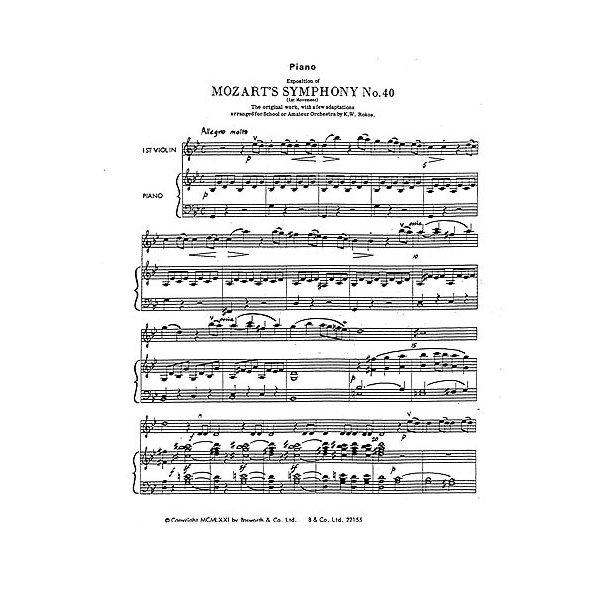 W.A. Mozart: Symphony No.40 (1st Movement Exposition