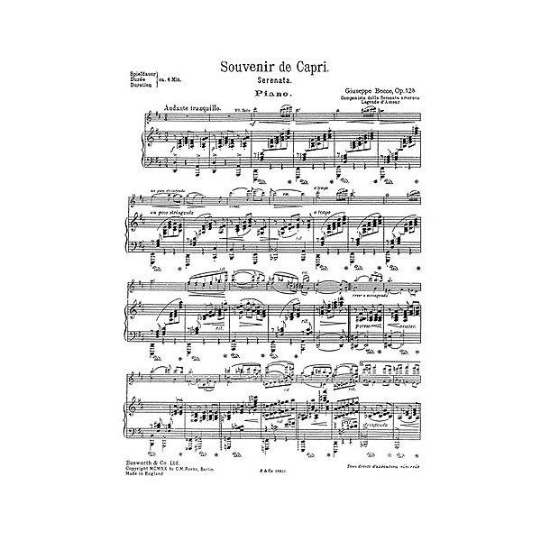 Giuseppe Becce: Souvenir De Capri Op.12a