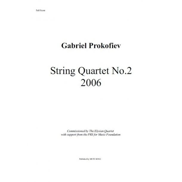 Gabriel Prokofiev: String Quartet No.2 (Score/Parts)