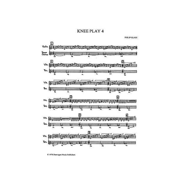 Philip Glass: Knee Play 4 (Einstein On The Beach)