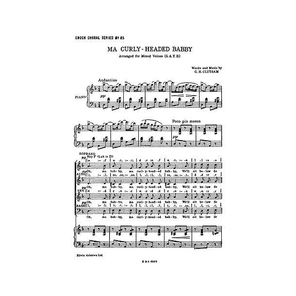G.H. Clutsam: Ma Curly-Headed Babby (SATB/Piano)