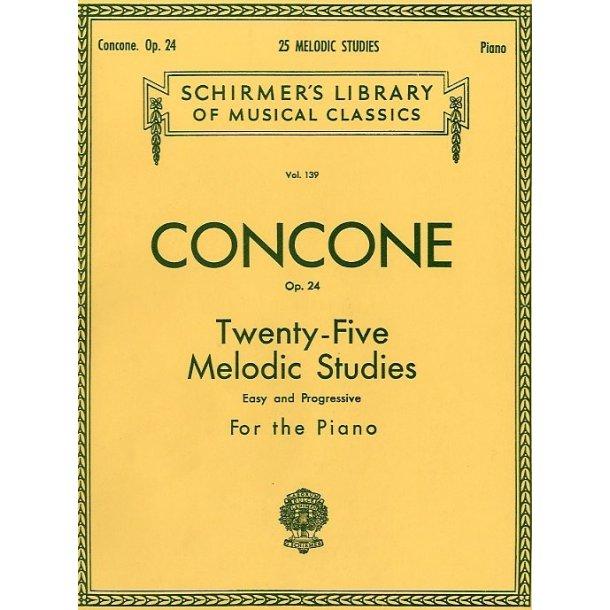 Giuseppe Concone: Twenty-Five Melodic Studies For Piano Op.24
