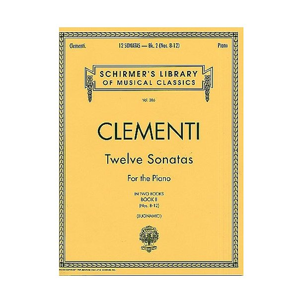 Muzio Clementi: Twelve Sonatas For The Piano - Book II