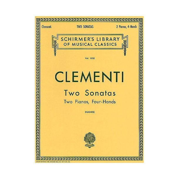 Muzio Clementi: Two Sonatas (2 Pianos)