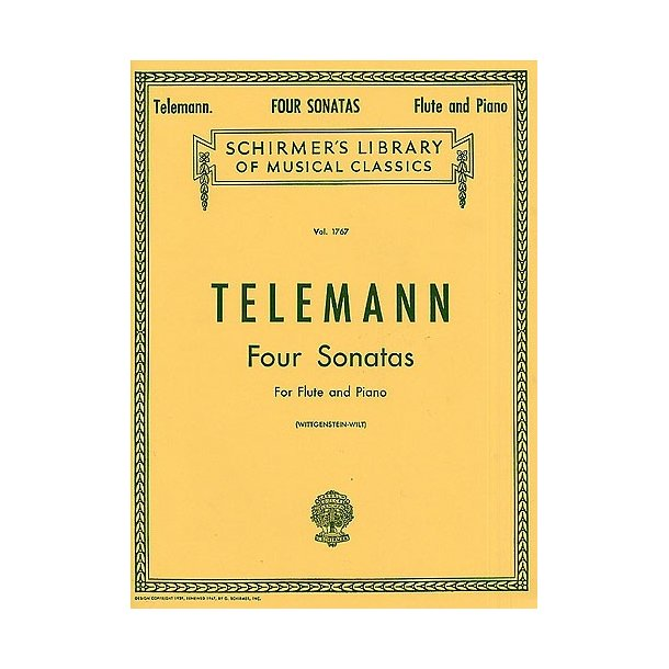 G.P. Telemann: Four Sonatas For Flute And Piano