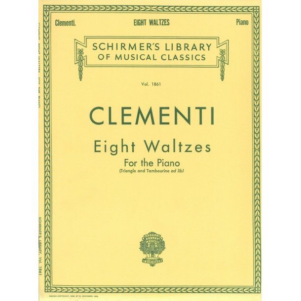 Muzio Clementi: Eight Waltzes For Piano