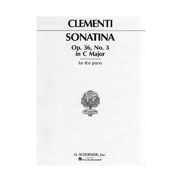 Muzio Clementi: Sonatina In C Major Op.36 No.3