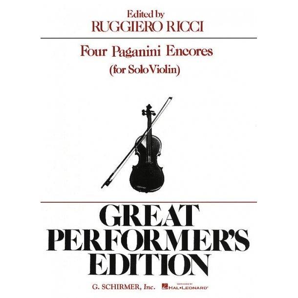 Niccolo Paganini: Four Encores For Violin