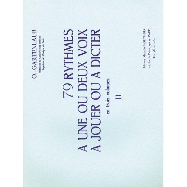 Gartenlaub 79 Rythmes A 1 Ou 2 Voix A Jouer Ou A Dicter Volume 2 Book