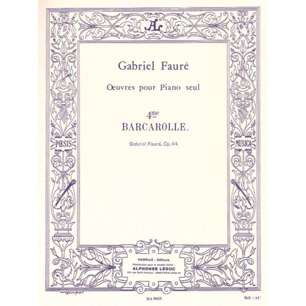 Gabriel Fauré: Barcarolle No.4, Op.44 in A flat major (Piano solo)