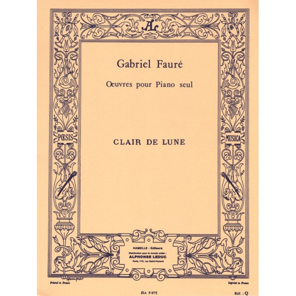 Gabriel Fauré: Clair de Lune Op.46, No.2 (Piano solo)