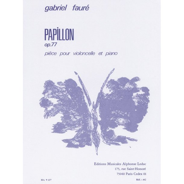 Gabriel Fauré: Papillon Op.77 (Cello & Piano)