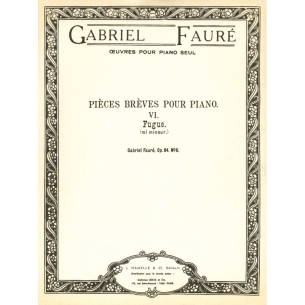 Gabriel Fauré: Fugue Op.84, No.6 in E minor (Piano solo)