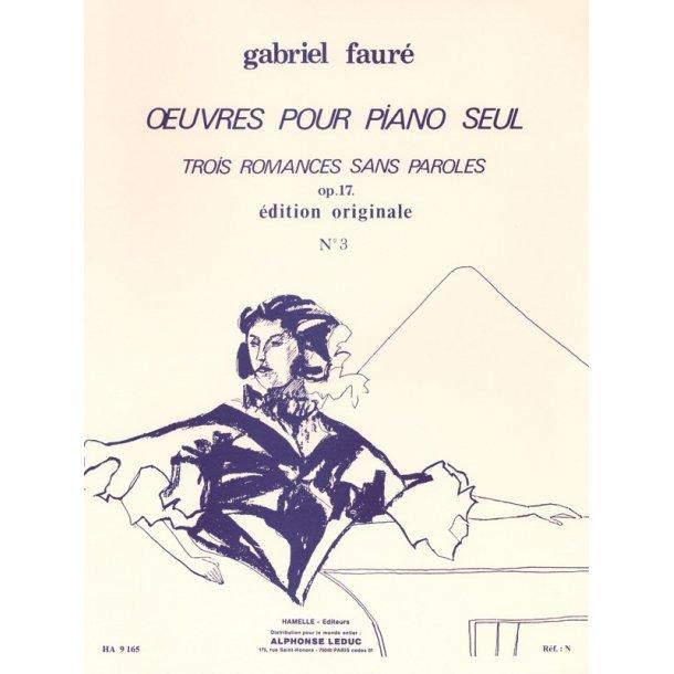 Gabriel Fauré: 3 Romances sans Paroles Op.17, No.3 in A flat major (Piano solo)