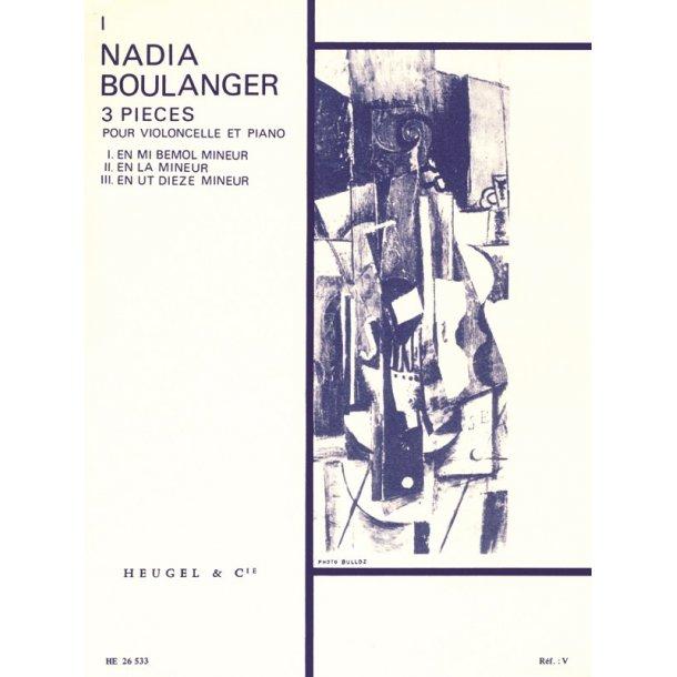 Nadia Boulanger: 3 Pieces No. 1 In E Flat Minor (Cello & Piano)