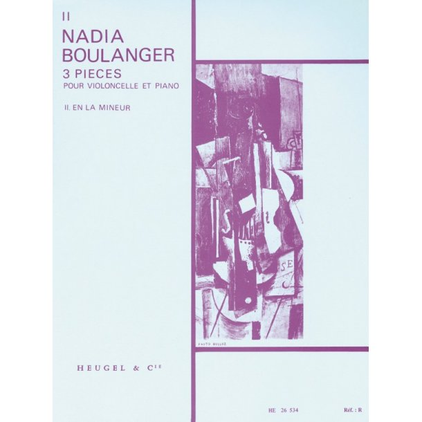 Nadia Boulanger: 3 Pieces - No. 2 In A Minor (Cello & Piano)