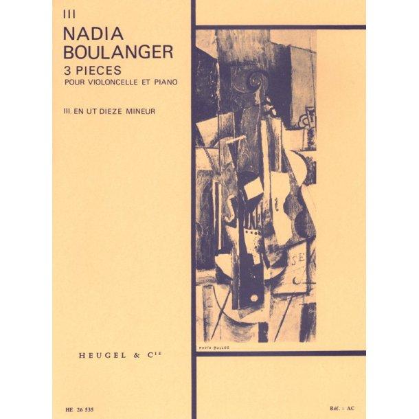Nadia Boulanger: 3 Pieces - No. 3 In C Sharp Minor (Cello & Piano)