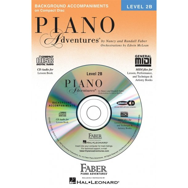 Nancy & Randall Faber: Piano Adventures® Lesson Book CD Level 2B