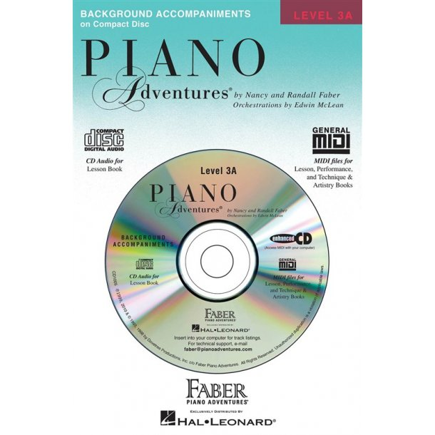 Nancy & Randall Faber: Piano Adventures® Lesson CD Level 3A