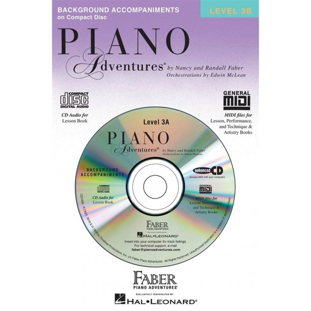 Nancy & Randall Faber: Piano Adventures® Lesson Book CD Level 3B