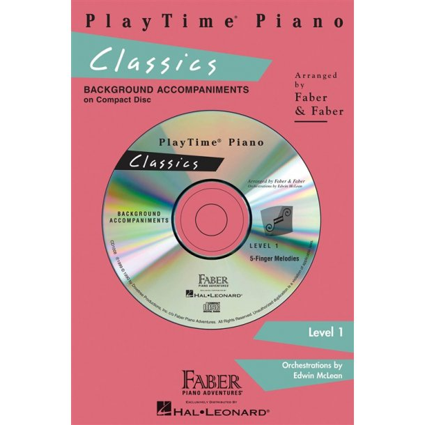 Nancy & Randall Faber: PlayTime Piano Classics CD (Level 1)