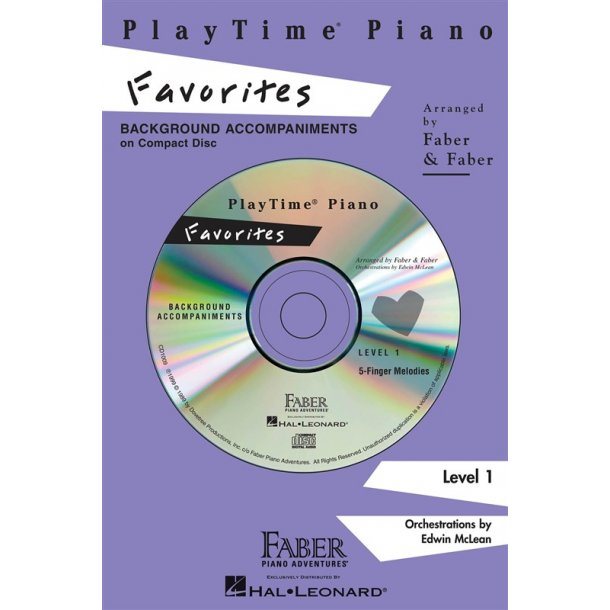 Nancy & Randall Faber: PlayTime Piano Favorites CD (Level 1)