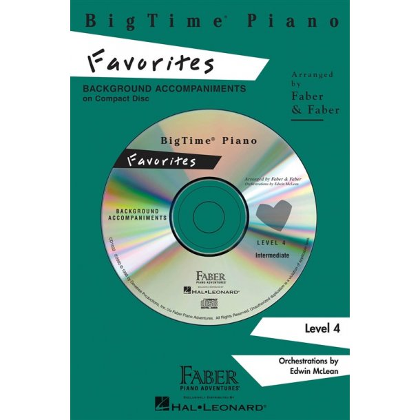 Nancy & Randall Faber: BigTime Piano Favorites CD (Level 4)