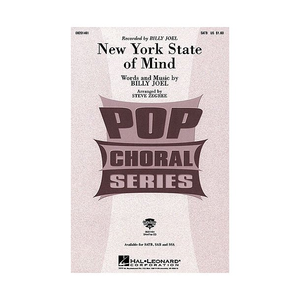 New York State Of Mine Zegree Satb