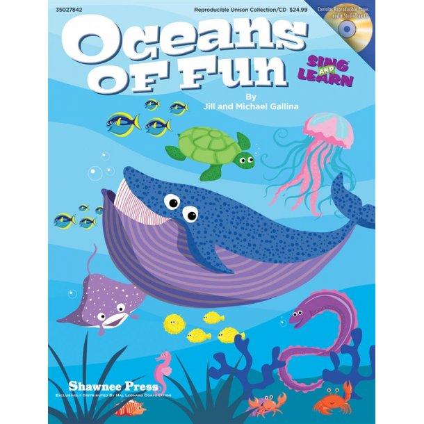 GALLINA JILL & MICHAEL OCEANS OF FUN CLASSROOM MUSICAL BK/CD