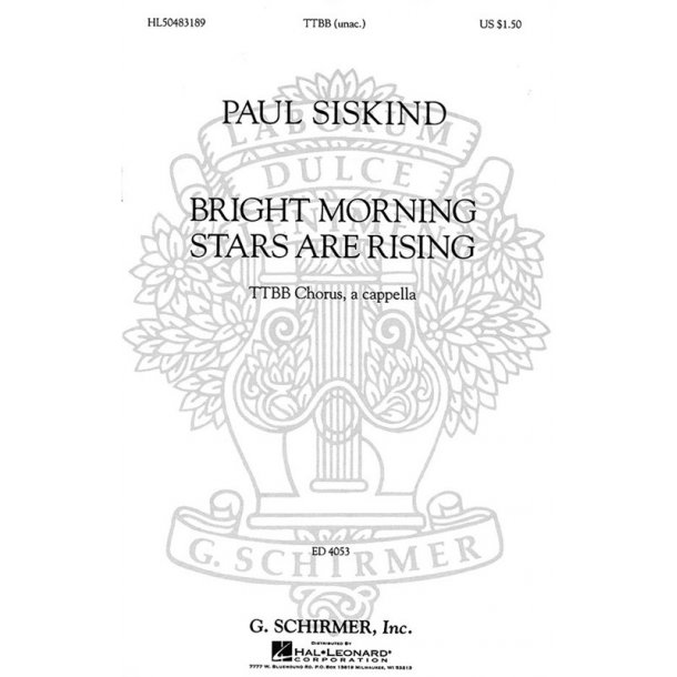 Paul Siskind: Bright Morning Stars Are Rising