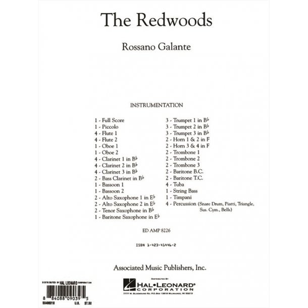 Galante Rossano The Redwoods Full Score