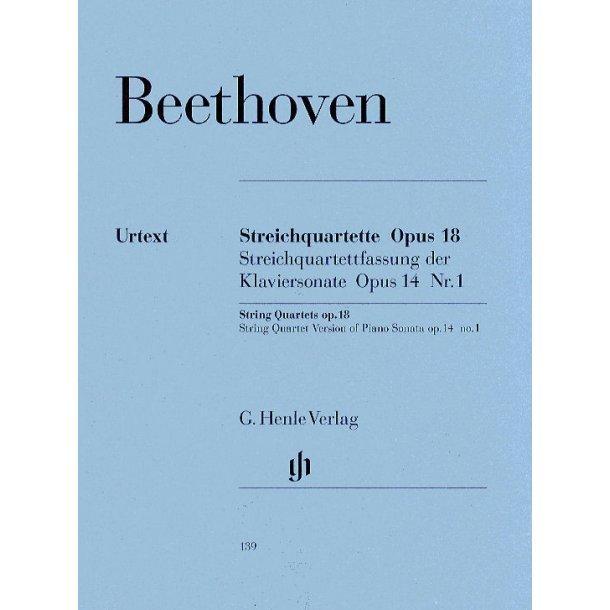 Beethoven: String Quartets Op 18 (Urtext)