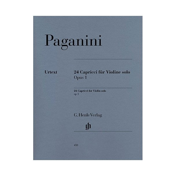 Niccolo Paganini: 24 Capricci op. 1 (notated and annotated version)