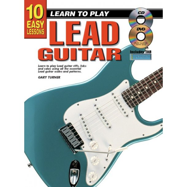 10 Easy Lssns Ltp Lead Gtr Bk/Cd/Dvd