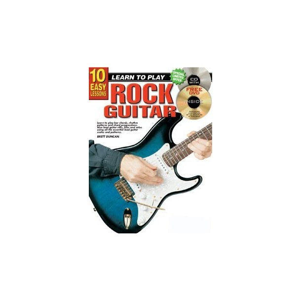 10 Easy Lessons: Learn To Play Rock Guitar (Book/CD/DVD)