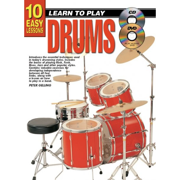 10 Easy Lessons Ltp Drums Bk/Cd/Dvd