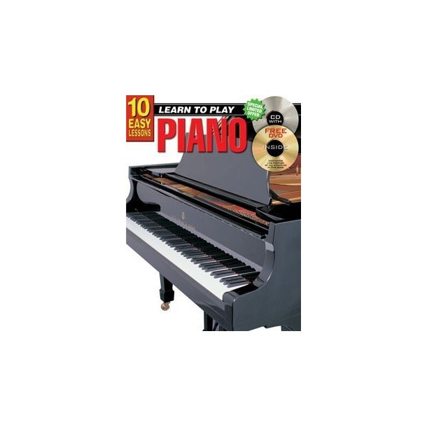 10 Easy Lessons: Learn To Play Piano (Book/CD/DVD)